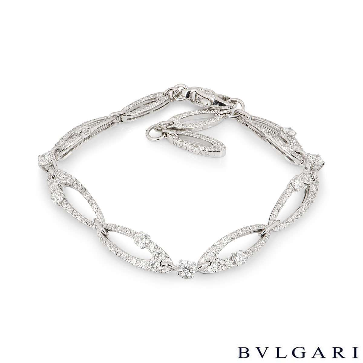 Bvlgari White Gold Diamond Elisia Bracelet